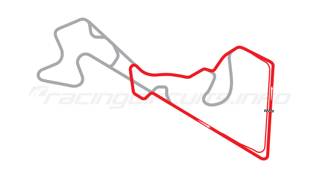 Map of Moscow Raceway, Sprint Circuit 6 2012 to date