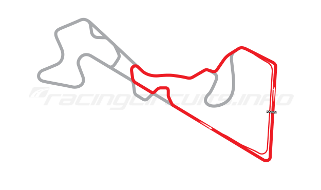 Map of Moscow Raceway, Sprint Circuit 7 2012 to date