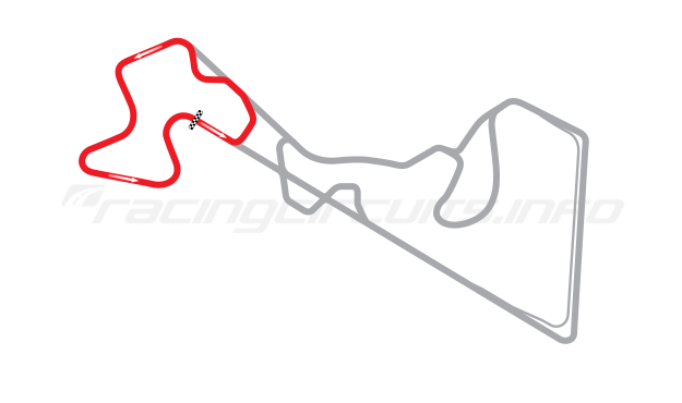 Map of Moscow Raceway, Supersprint Circuit 2012 to date