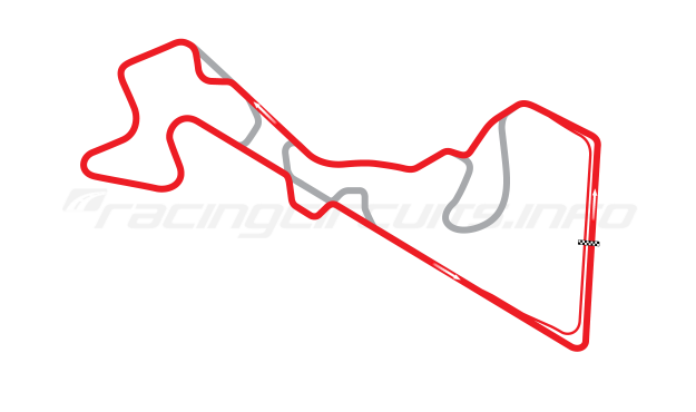 Map of Moscow Raceway, Grand Prix Circuit 7 2012 to date