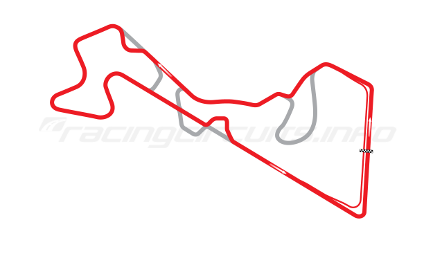 Map of Moscow Raceway, Grand Prix Circuit 8 2012 to date