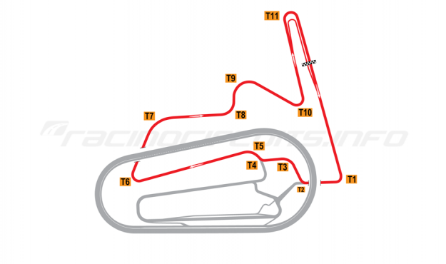 Map of Motegi, East Road Course 2011 to date