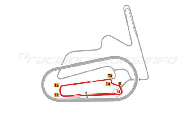 Map of Motegi, West Road Course 2011 to date