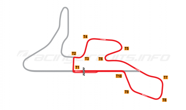 Map of MotorPark Romania, Track segment 2+3 2015 to date