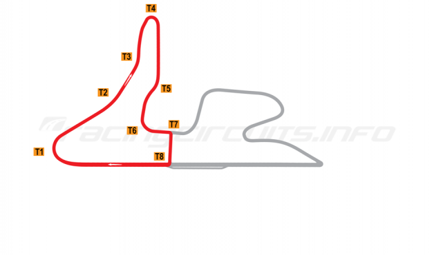 Map of MotorPark Romania, Track segment 1 2014