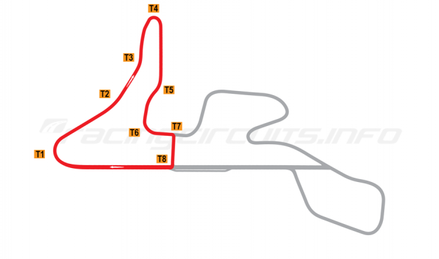 Map of MotorPark Romania, Track segment 1 2015 to date