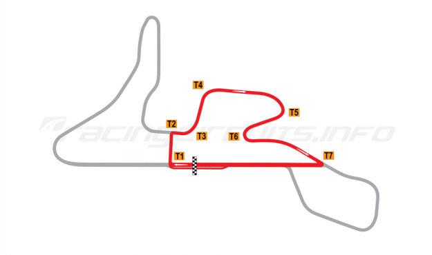 Map of MotorPark Romania, Track segment 2 2015 to date