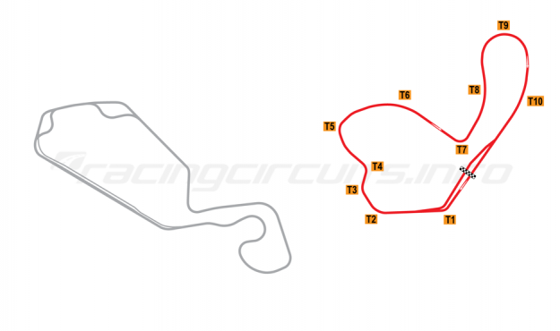 Map of New Jersey Motorsports Park, Lightning Circuit 2008 to date