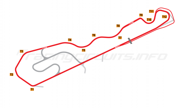 Map of NOLA Motorsports Park, C Course 2011-2014