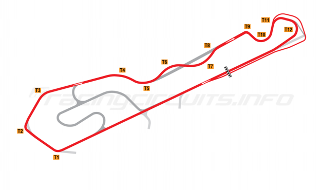 Map of NOLA Motorsports Park, C Course 2015 onwards