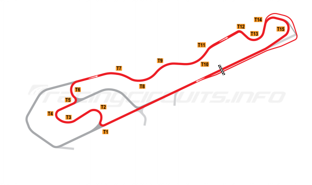 Map of NOLA Motorsports Park, D Course 2011-2014