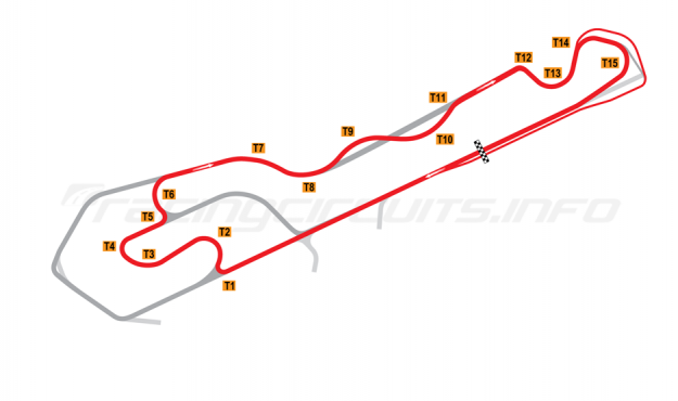 Map of NOLA Motorsports Park, D Course 2015 onwards