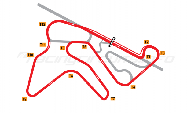 Map of NRing, 'B' Circuit 2010 to date