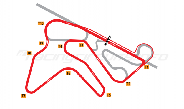 Map of NRing, Motorcycle Circuit 2010 to date