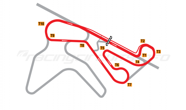 Map of NRing, 'C' Circuit 2010 to date
