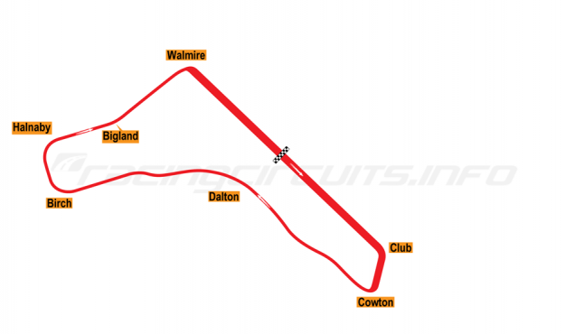 Map of Croft, Neasham Circuit 1948-63