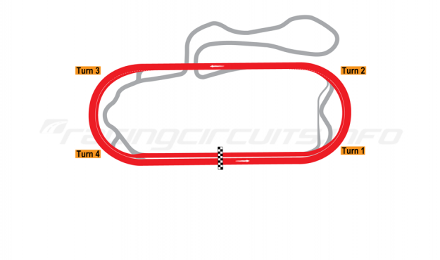 Map of New Hampshire Motor Speedway, 2009 to date