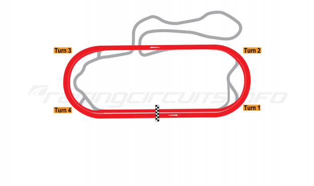 Map of New Hampshire Motor Speedway, Oval Course 1991-97