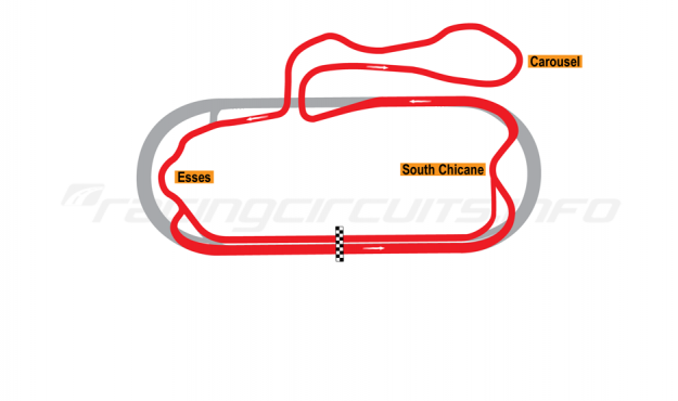 Map of New Hampshire Motor Speedway, Road Course (Alternate Final Turn) 1991-97