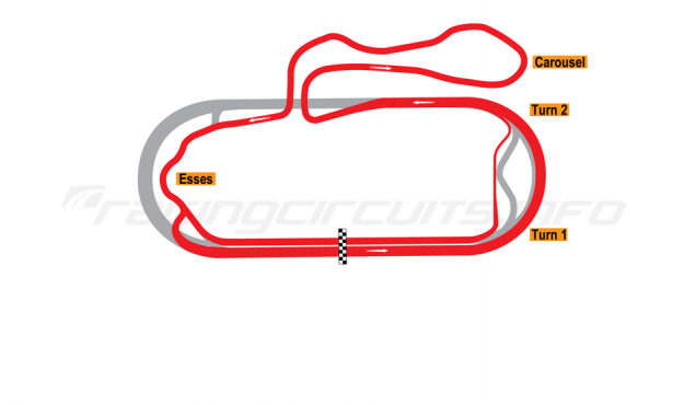 Map of New Hampshire Motor Speedway, Roval Course (Alternative Final Turn) 2009 to date