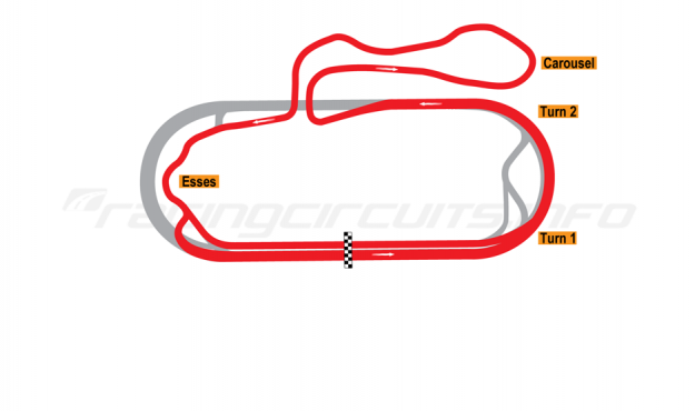 Map of New Hampshire Motor Speedway, Roval Course (Alternative Final Turn) 1991-97