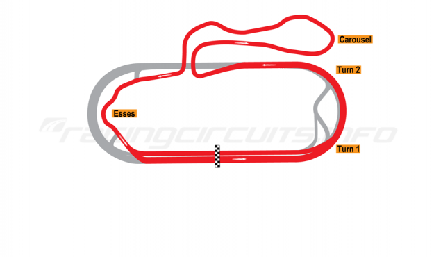 Map of New Hampshire Motor Speedway, Roval Course 1991-97
