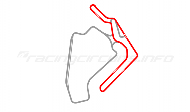 Map of Ningbo International Speedway, Club circuit 2017 to date