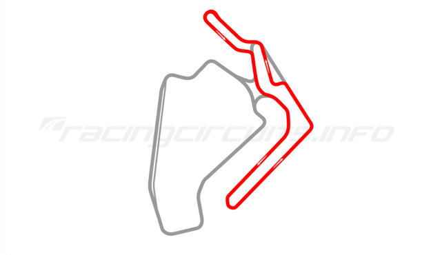 Map of Ningbo International Speedway, Club circuit with chicane 2017 to date