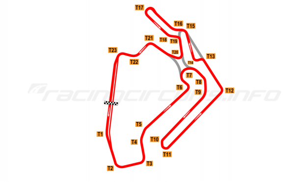Map of Ningbo International Speedway, 2017 to date