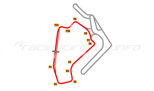 Map of Ningbo International Speedway, Short circuit 2017 to date