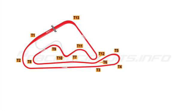 Map of Mine Circuit, Nishi-Nihon Circuit 1976-90