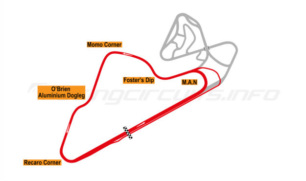 Map of Oran Park, South Circuit 2001-10