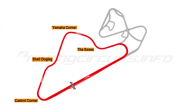 Map of Oran Park, South Circuit 1985-98