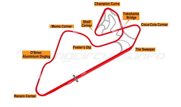 Map of Oran Park, Grand Prix Circuit 2001-10