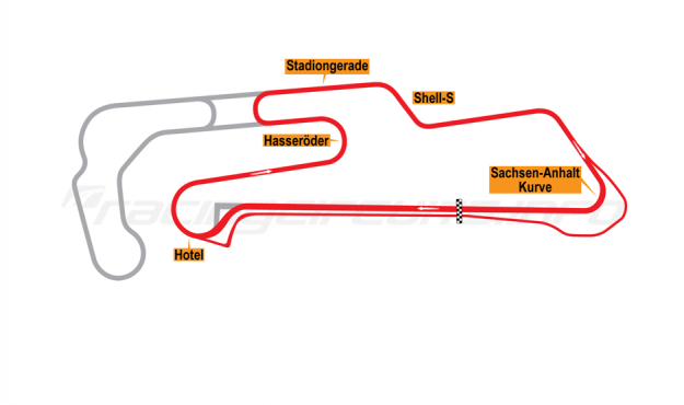 Map of Oschersleben, Motorcycle B Course 2007 to date