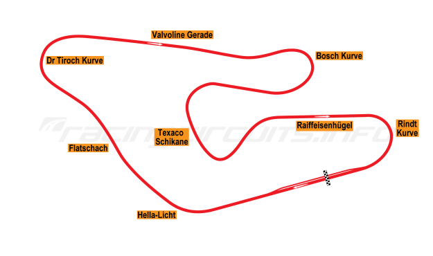 Map of Red Bull Ring, Österrichring 1976