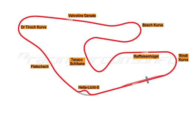 Map of Red Bull Ring, Österrichring 1977-87