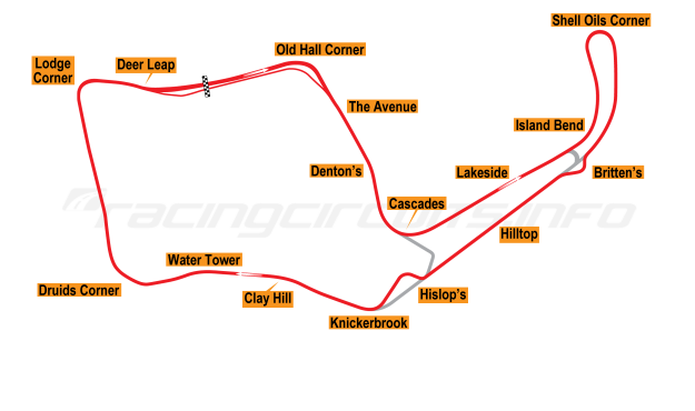 Map of Oulton Park, 2003 to date