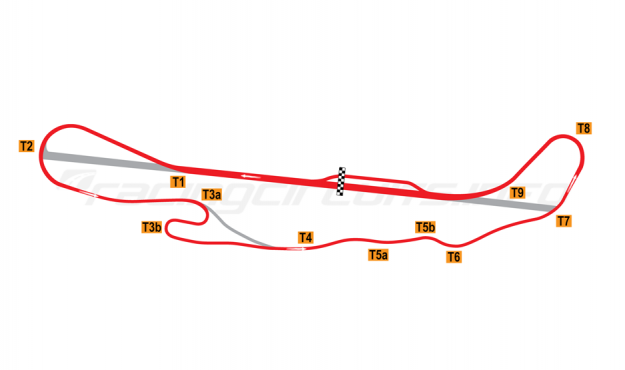 Map of Pacific Raceways, Road course 1960-71