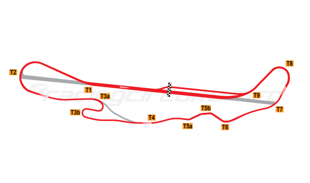 Map of Pacific Raceways, Road course 1972-2001
