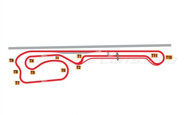 Map of Palm Beach International Raceway, Road Course 2008 to date