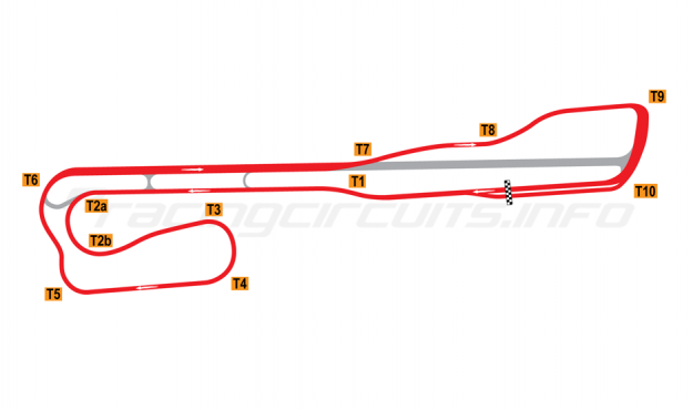 Map of Palm Beach International Raceway, Road Course 1964-2000