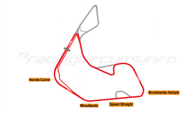 Map of Pembrey, Short circuit variation 1 2017 to date