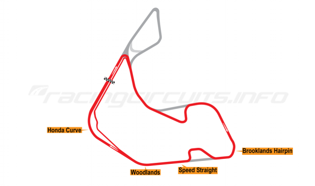 Map of Pembrey, Short circuit with both variations 2017 to date