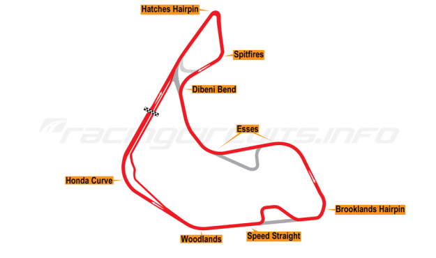 Map of Pembrey, Full circuit variation 2 2017 to date