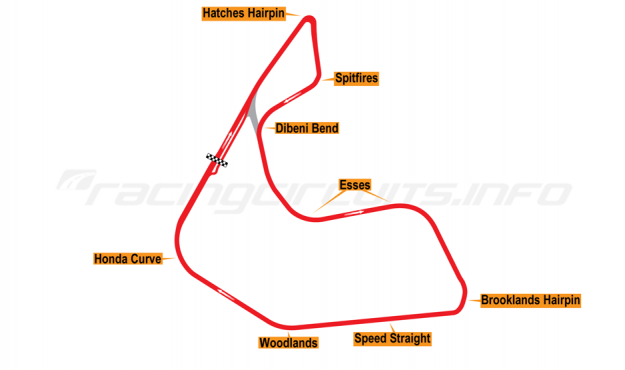 Map of Pembrey, Full circuit 1989-95