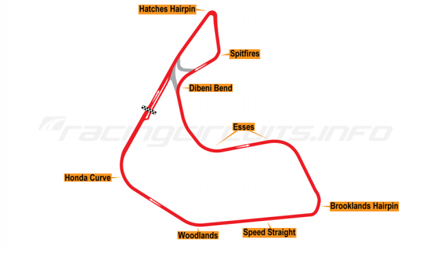 Map of Pembrey, Full circuit 1996-2005
