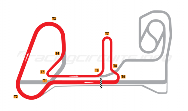 Map of Penbay, National Circuit  2011 to date