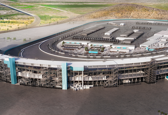 Artists rendering of the renovated Phoenix Raceway