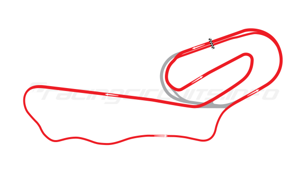 Map of ISM Raceway, Long road course 1964-90